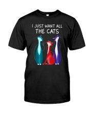 Cat All I want 2708 Classic T-Shirt front
