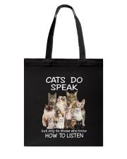 Cats do speak 1809 Tote Bag thumbnail