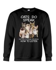 Cats do speak 1809 Crewneck Sweatshirt front