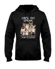 Cats do speak 1809 Hooded Sweatshirt thumbnail