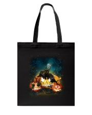 Black Cat Halloween Tote Bag thumbnail