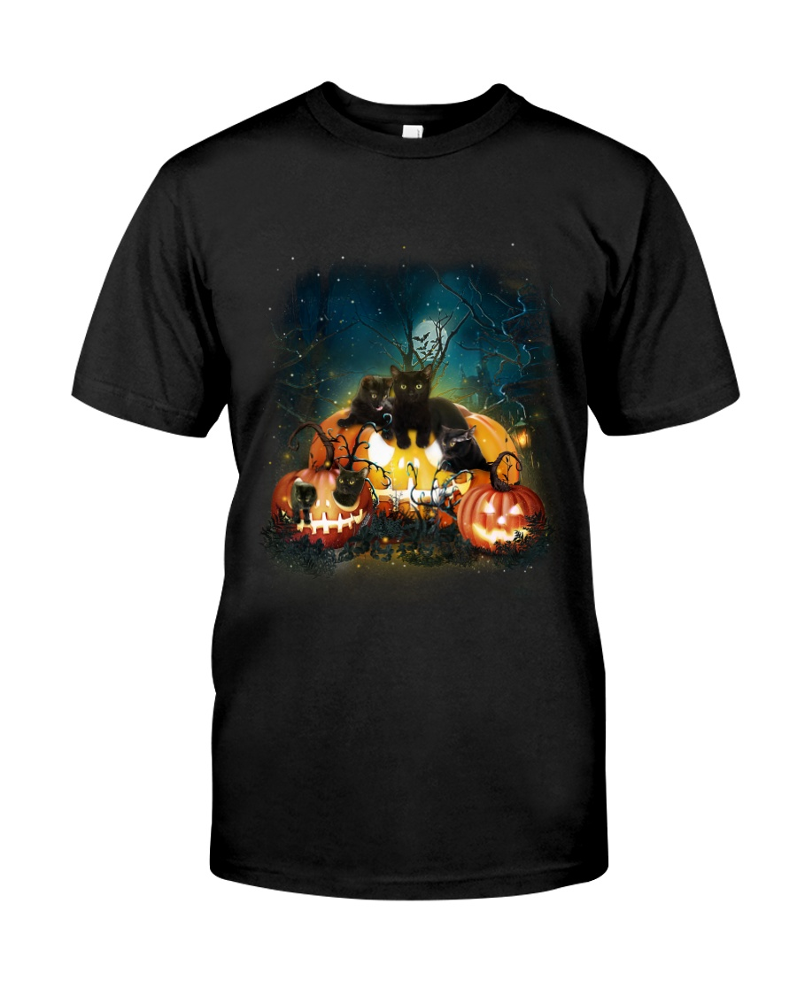 Black Cat Halloween Classic T-Shirt
