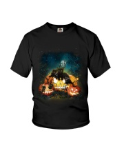 Black Cat Halloween Youth T-Shirt thumbnail