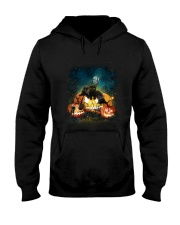 Black Cat Halloween Hooded Sweatshirt thumbnail
