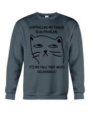 Cat Face Crewneck Sweatshirt tile
