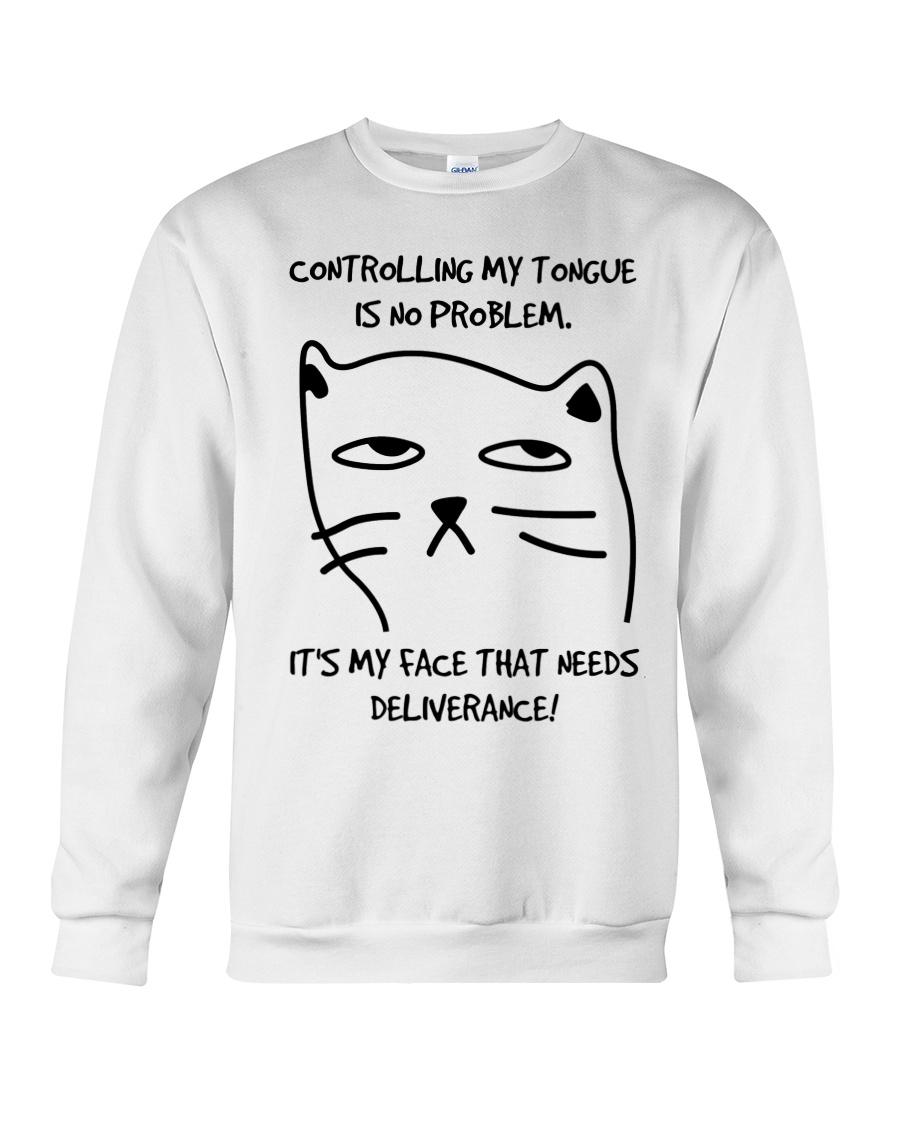 Cat Face Crewneck Sweatshirt