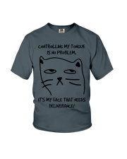 Cat Face Youth T-Shirt thumbnail