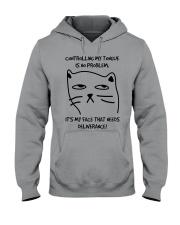 Cat Face Hooded Sweatshirt thumbnail