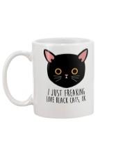 Love Black Cats Mug back