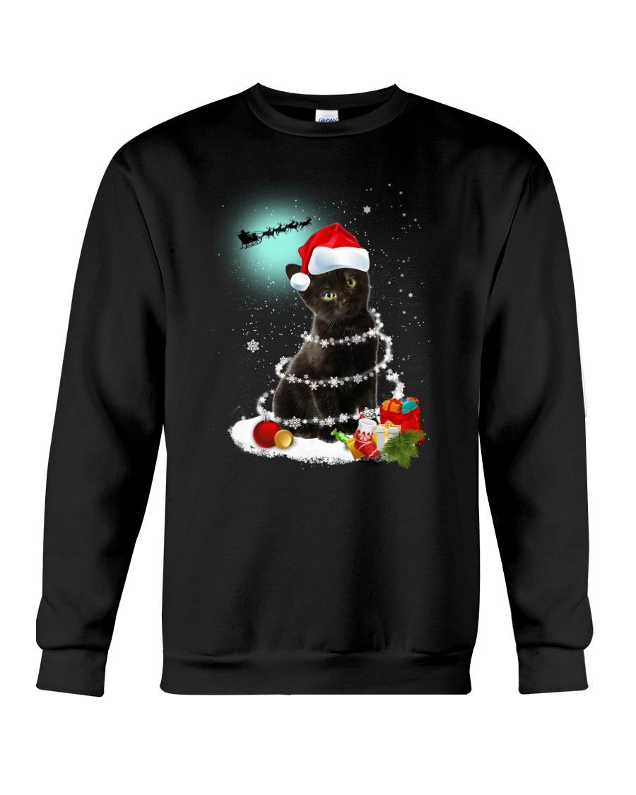 Black Cat Snow Wind 2209 Crewneck Sweatshirt