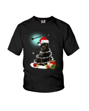 Black Cat Snow Wind 2209 Youth T-Shirt thumbnail