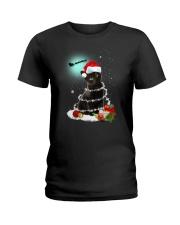 Black Cat Snow Wind 2209 Ladies T-Shirt thumbnail