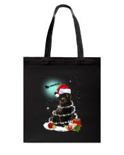 Black Cat Snow Wind 2209 Tote Bag thumbnail