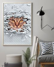Cat Under Wall 11x17 Poster lifestyle-poster-1
