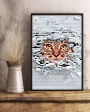 Cat Under Wall 11x17 Poster lifestyle-poster-3
