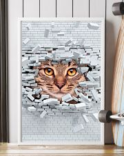 Cat Under Wall 11x17 Poster lifestyle-poster-4