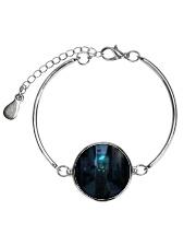 Black Cat And Butterfly Metallic Circle Bracelet thumbnail