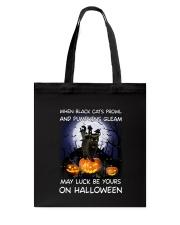 Black cat prowl 3007 Tote Bag thumbnail