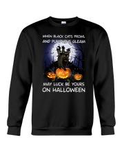 Black cat prowl 3007 Crewneck Sweatshirt thumbnail