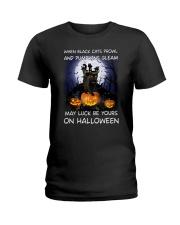 Black cat prowl 3007 Ladies T-Shirt thumbnail