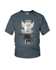 Cat Angel And Devil Youth T-Shirt thumbnail