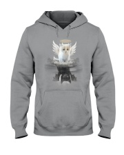 Cat Angel And Devil Hooded Sweatshirt thumbnail