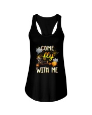 Cat come fly Ladies Flowy Tank thumbnail