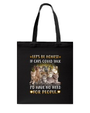 Cat and people Tote Bag thumbnail