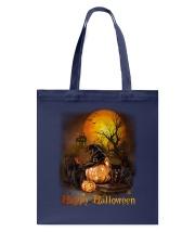 Black Cat Halloween Tote Bag thumbnail