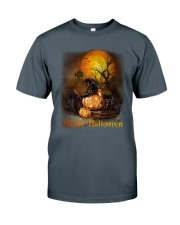 Black Cat Halloween Classic T-Shirt tile