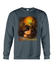 Black Cat Halloween Crewneck Sweatshirt thumbnail