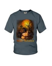 Black Cat Halloween Youth T-Shirt thumbnail