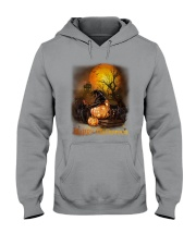 Black Cat Halloween Hooded Sweatshirt thumbnail
