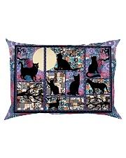 Black Cat Pattern  Rectangular Pillowcase back