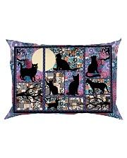 Black Cat Pattern  Rectangular Pillowcase front