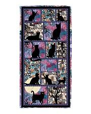 Black Cat Pattern  Beach Towel thumbnail