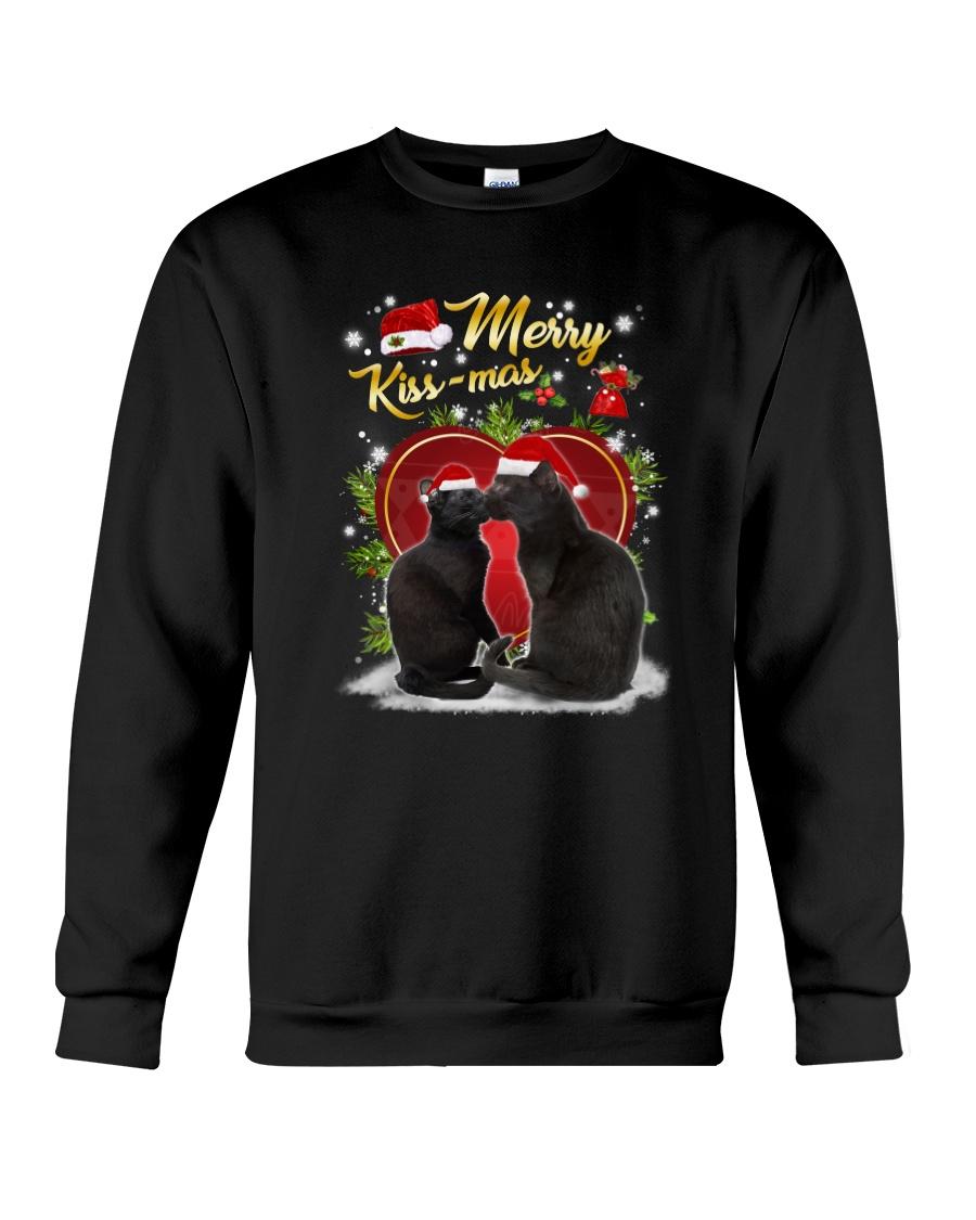 Black cat kissmas Crewneck Sweatshirt