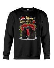 Black cat kissmas Crewneck Sweatshirt front