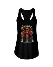 Black cat kissmas Ladies Flowy Tank thumbnail
