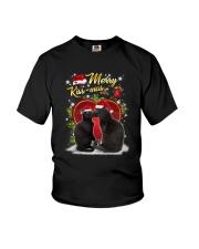 Black cat kissmas Youth T-Shirt thumbnail