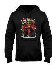 Black cat kissmas Hooded Sweatshirt thumbnail