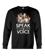Rescue and voice Crewneck Sweatshirt front