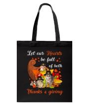 Thanks Giving Cats Tote Bag thumbnail