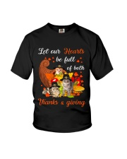 Thanks Giving Cats Youth T-Shirt thumbnail