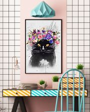 Black Cat Flower 11x17 Poster lifestyle-poster-6