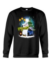 Black cat and snowman Crewneck Sweatshirt front