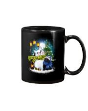 Black cat and snowman Mug thumbnail