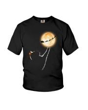 Cat moon and Santa Youth T-Shirt thumbnail