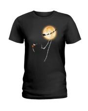 Cat moon and Santa Ladies T-Shirt thumbnail