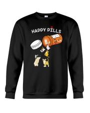 Cat happy pills Crewneck Sweatshirt front
